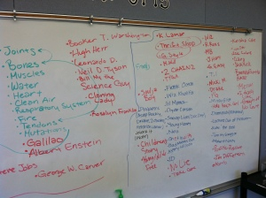 The KIPP Bridge Brainstorm on content and music.